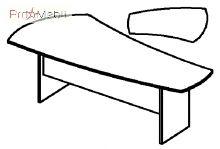 Стол 4-130 офисная мебель Персонал Салита
