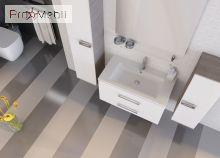 Пенал в ванную комнату Zlata 100 белый Ювента