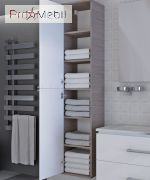 Пенал в ванную комнату Zlata 170 белый Ювента