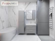 Зеркальный шкаф в ванную комнату MnhMC-80 серый Manhattan Ювента