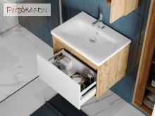 Тумба для ванной с умывальником Mlt-100 дуб вотан Malta Ювента