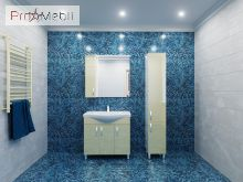 Пенал в ванную комнату TrnP-190 Trento бежевый Ювента