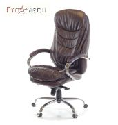 Кресло Валенсия Soft CH MB кожа коричневое Аклас