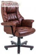 Кресло Конгресс дерево кожа коричневое Richman