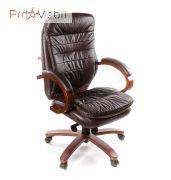 Кресло Валенсия EX MB кожа коричневое Аклас