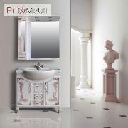 Шкаф зеркальный в ванную комнату Барселона 185 rame Ольвия