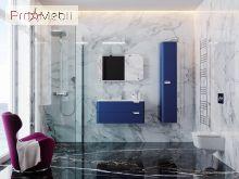 Тумба для ванной с умывальником Vlt-100 синяя Velluto Botticelli