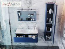 Пенал в ванную комнату VltP-190 синий Velluto Botticelli