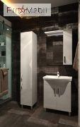 Пенал в ванную комнату TrnP-190 Trento белый Ювента