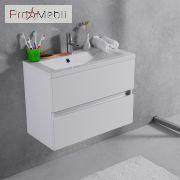 Тумба для ванной с умывальником подвесная Rodos Fancy Marble