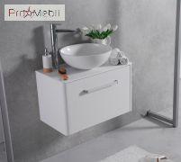 Тумба для ванной с умывальником подвесная Fiji 80 Mona Fancy Marble