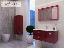 Зеркало в ванную комнату TrM-100 красное Torino Botticelli