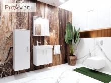 Зеркало в ванную комнату MnhM-60 белое Manhattan Ювента