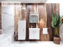 Зеркальный шкаф в ванную комнату MnhMC-70 белый Manhattan Ювента