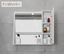 Зеркальный шкаф в ванную комнату MnhMC-80 белый Manhattan Ювента