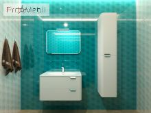 Тумба для ванной с умывальником Vlt-80 белая Velluto Botticelli