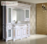 Стенка (портал) для ванной Людовик white gold Ольвия