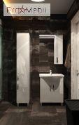 Тумба для ванной с умывальником Trn-50 Trento белая Ювента