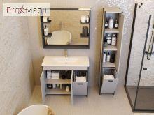 Пенал в ванную комнату BrP-190 Brooklyn серый Ювента