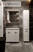 Зеркало в ванную комнату BrM-65 Brooklyn белое Ювента