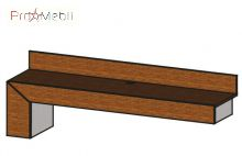 Надставка к ТВ тумбе левая CO-PRTV 1 L Conti Taranko