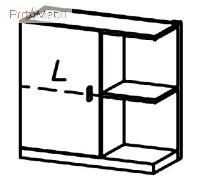 Шкафчик навесной левый MT-W3 L Matteo Taranko