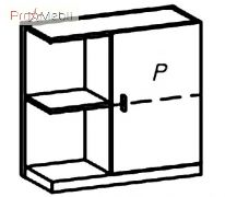 Шкафчик навесной правый MT-W3 P Matteo Taranko