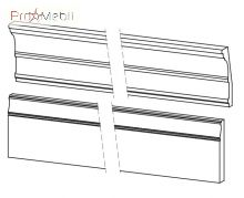 Комплект карнизов к панели BA-listwy wienczace do paneli kpl. Barcelona Taranko