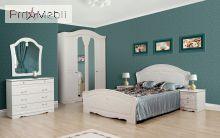 Кровать 2-сп белое золото Луиза Світ Меблів