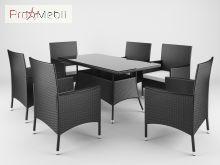 Комплект садовой мебели Trapani 7 Black Di Volio