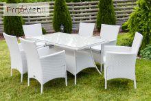 Комплект садовой мебели Trapani 7 White Di Volio