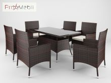 Комплект садовой мебели Trapani 7 Brown Di Volio