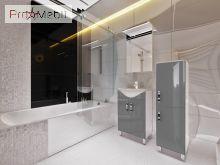 Пенал в ванную комнату TrnP-190 Trento серый Ювента