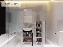 Тумба для ванной с умывальником Trn-55 Trento черная Ювента