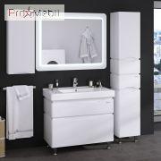Пенал в ванную комнату 35 R Alessa белый Sanwerk