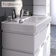 Тумба для ванной с умывальником 90 Alessa белая Принц Sanwerk