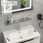 Тумба для ванной с умывальником 70 Alessa венге Канте Sanwerk