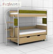 Двухъярусная кровать DJ-L-03 80 c ящиком Эдисан