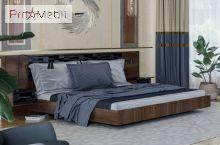Кровать с двумя прикроватными тумбами Паула LasCavo
