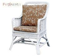 Кресло Черниговчанка прованс из лозы