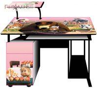 Детский компьютерный стол С-27-1 Маша и медведь Эскадо