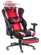 Кресло Extreme Race black-red with footrest Special4You