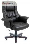 Кресло Конгресс дерево кожа черное Richman