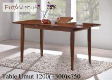 Стол обеденный Umut 120 шоколад Onder Mebli