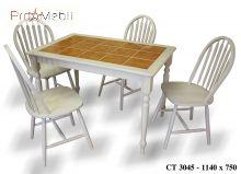 Кухонный стол со стульями 3045 & Winzor беленый дуб Onder Mebli