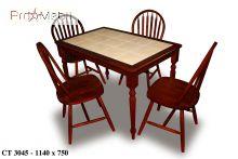Кухонный стол со стульями 3045 & Winzor махагон Onder Mebli