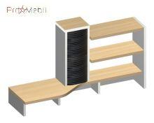 Надставка стола А-19 Альфа + Blox Амарант