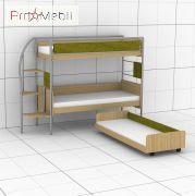 Двухъярусная кровать DJ-L-03 80 c 3-й кроватью Эдисан