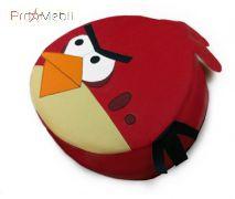 Пуфик Птица красная маленький Poparada