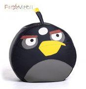 Пуфик Птица черная средний Poparada